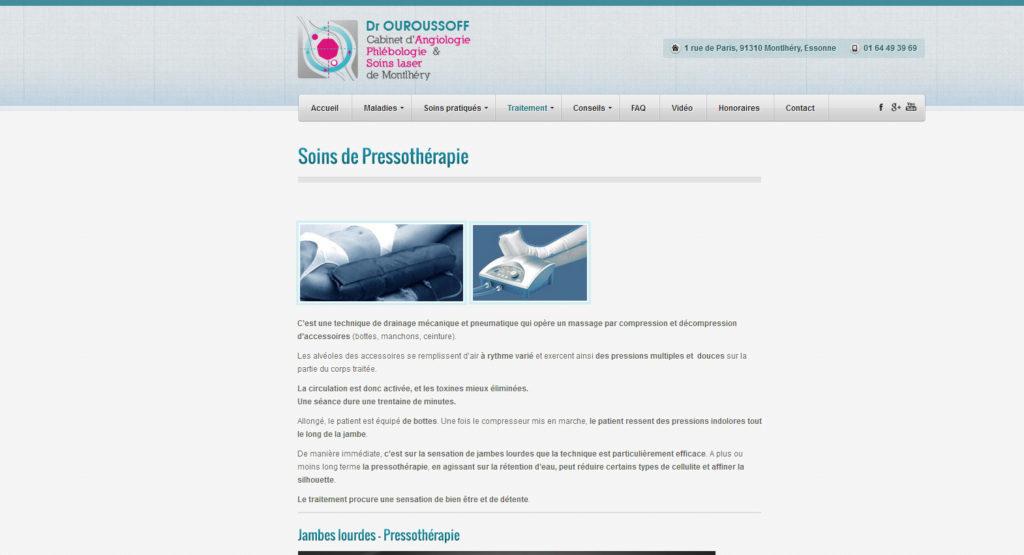 Dr. Ouroussoff - Cabinet d'Angiologie, Phlébologie et Soins Laser de Montlhéry