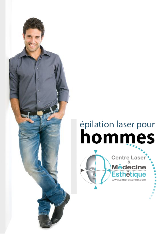 Les hommes et l'épilation laser